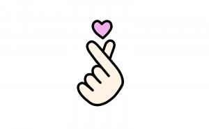 Finger Hearts emoji, Korean Finger Hearts, Finger Hearts drawing