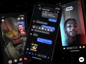 Star Wars Facebook features, Star Wars-themed Facebook effects, Star Wars on Facebook Messenger, Facebook effects for Star Wars