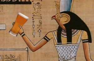 Egyptian holding beer, history of beer, origins of beer, beer history