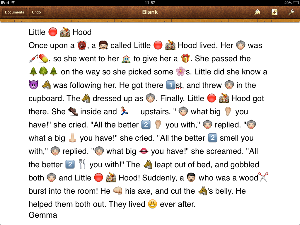 Emojis in stories, emojis featured in stories, emojis in lessons