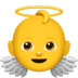 Angel emoji, Angel emoji on Apple