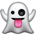 Ghost emoji, Apple version of the ghost emoji, Ghost emoji on Apple