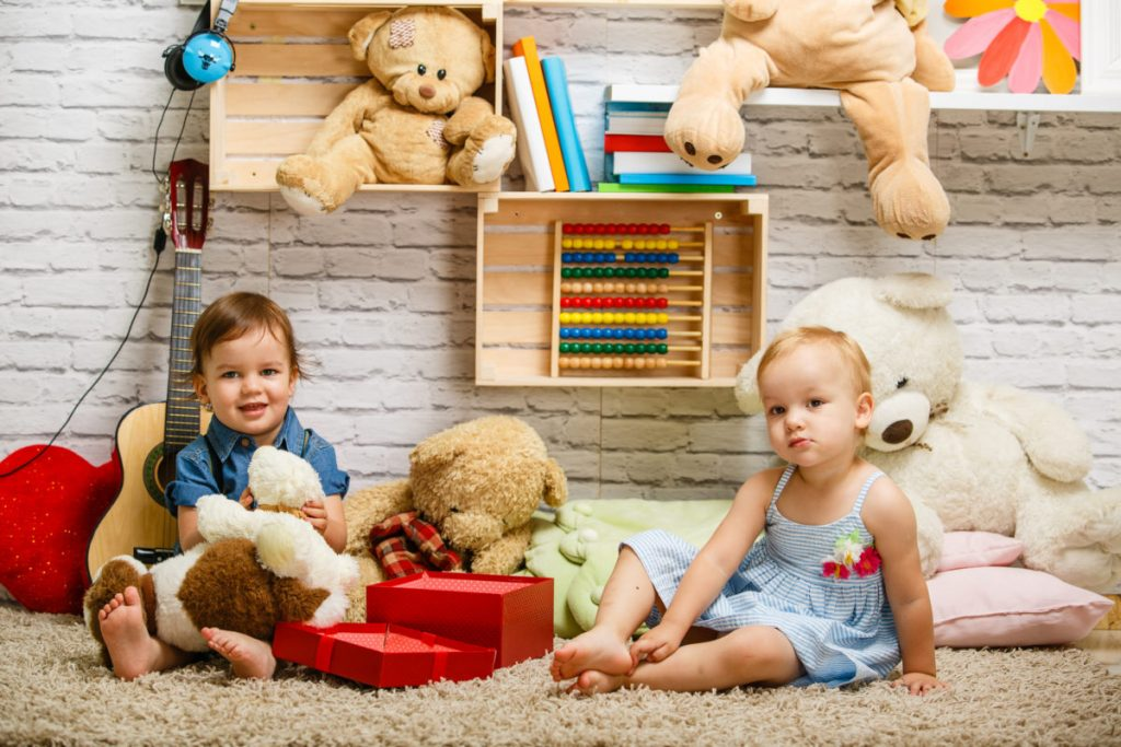 Toddler twins, toddlers playing at home, toddlers at home