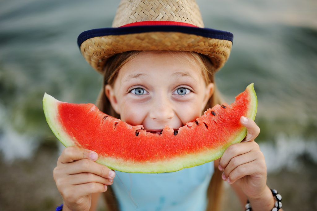 girl eating watermelon, watermelon emoji, summer emoji list