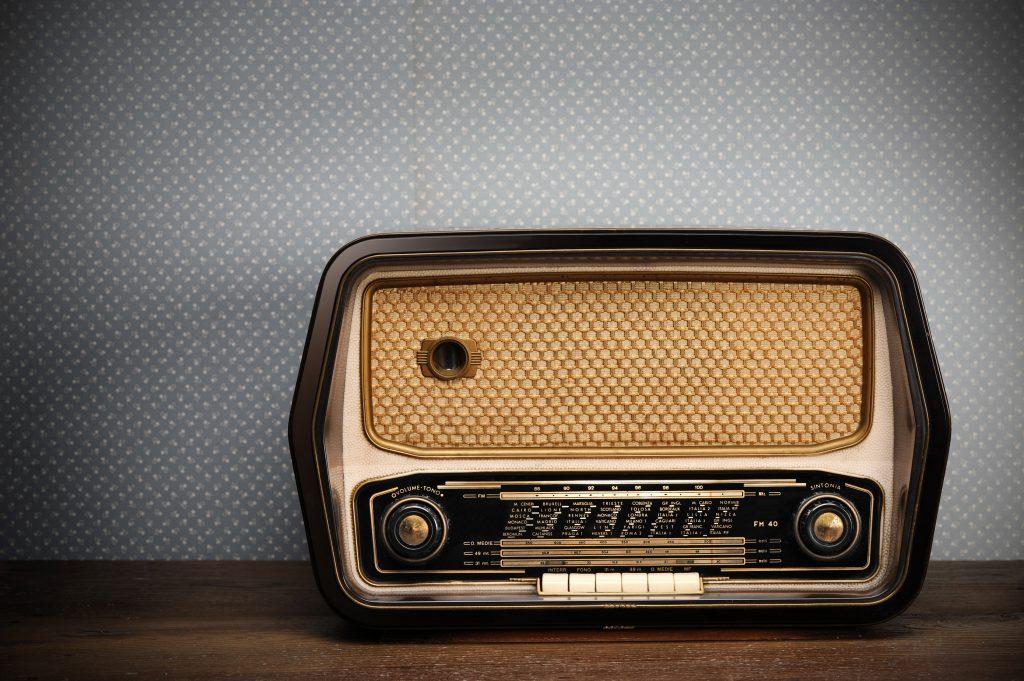 vintage radio, radio emoji