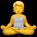 Person In Lotus Position emoji, Apple version of the Person In Lotus Position emoji, Person In Lotus Position, Yoga emoji