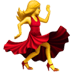 Woman dancing emoji, body emoji, Apple version of the Woman Dancing emoji