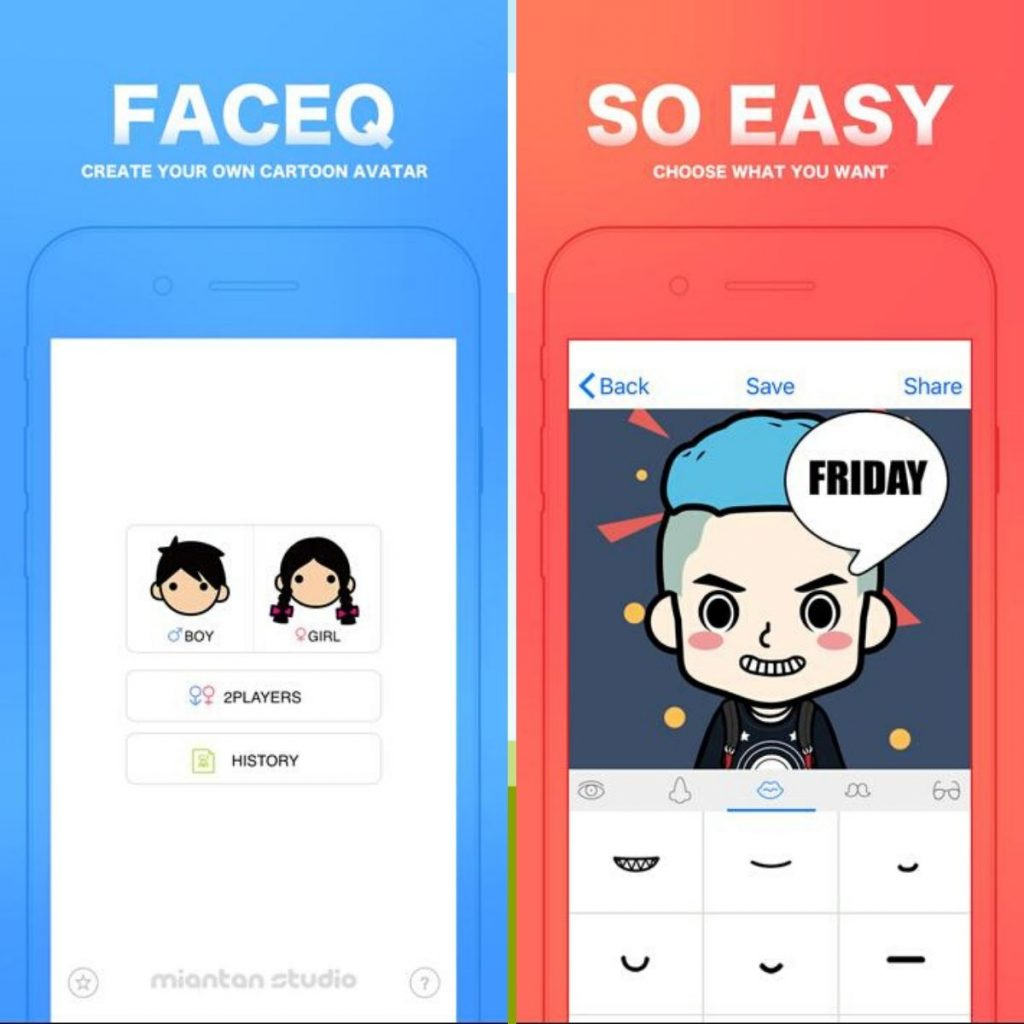 FaceQ app, FaceQ app on Android, Android version of the FaceQ app