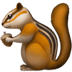Chipmunk emoji, Apple version of the Chipmunk emoji, Chipmunk