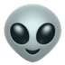 Alien emoji, Apple's Alien emoji
