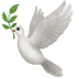Dove Of Peace emoji, Dove emoji, Apple version of the Dove emoji