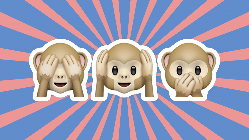 Three Wise Monkeys, Three Wise Monkeys emoji series, See No Evil Monkey, Hear No Evil Monkey, Speak No Evil Monkey, See No Evil Monkey emoji, Hear No Evil Monkey emoji, Speak No Evil Monkey emoji