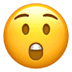 Astonished Face emoji, Apple version of the Astonished Face emoji
