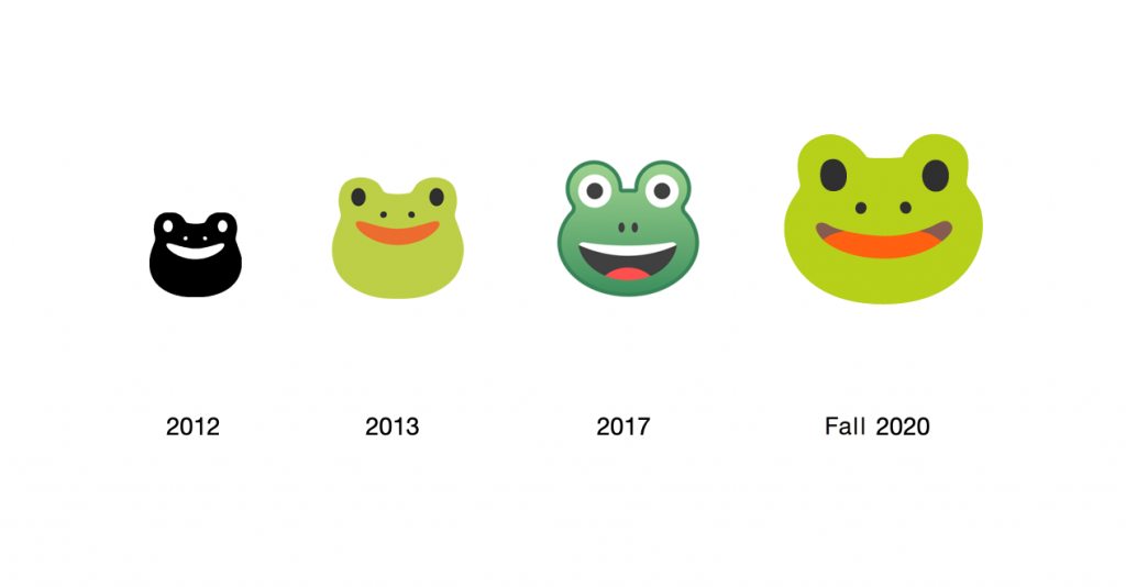Google classic emojis, Google Android's Frog emojis, Frog emojis, Google's Frog emojis