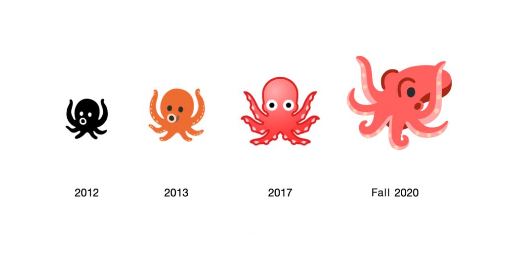 Octopus emoji, Google's Octopus emoji, Google Android's Octopus emoji