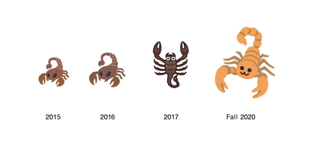 Scorpion emoji, Google Android's Scorpion emoji, Google's Scorpion emoji