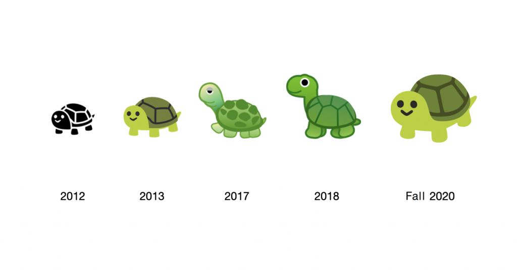 Turtle emoji, Google classic emojis