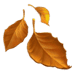 Apple emoji, Leaf emoji, Fallen Leaf emoji, Fallen Leaf emoji Apple version