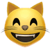 Cat emoji, Apple's Grinning Cat With Smiling Eyes emoji, Grinning Cat With Smiling Eyes emoji