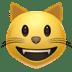 Cat emoji, Apple's Grinning Cat emoji, Grinning Cat symbol