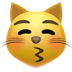 Kissing Cat emoji, Cat emoji, Apple's Kissing Cat emoji