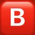 B emoji, B emoji Apple version