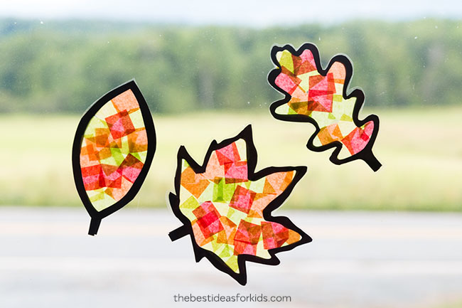 leaf suncatcher craft