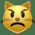 Pouting Cat emoji, Apple's Pouting Cat emoji, Apple version of the Pouting Cat symbol