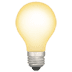 Light Bulb emoji, Apple's version of the Light Bulb emoji