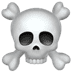 Skull And Crossbones emoji, Apple version of the Skull And Crossbones emoji