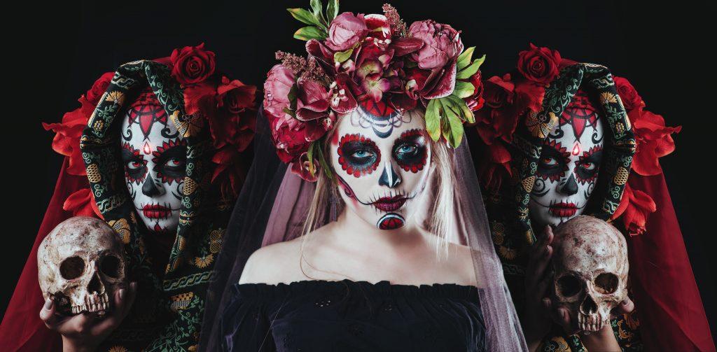 Calavera Catrina, sugar skull makeup, skull