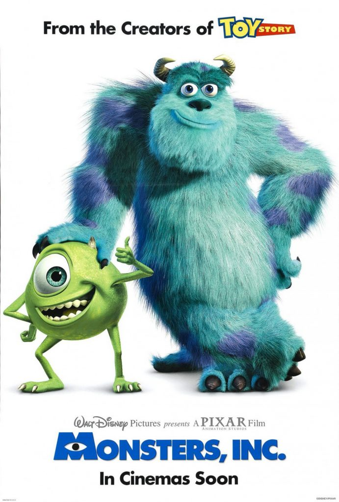Monsters Inc, Monsters Inc movie poster