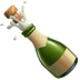 Apple version of the Bottle With Popping Cork emoji