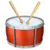 Drum emoji, Apple version of the Drum emoji