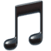 Music emoji, Musical Note emoji, Apple's Musical Note emoji