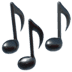 Music emoji, Musical Notes emoji, Apple version of the Musical Notes emoji