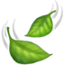 Leaf Fluttering In Wind emoji, Apple version of the Leaf Fluttering In Wind