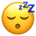 Sleeping Face emoji, Apple's Sleeping Face emoji