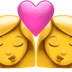 Kiss: Woman, Woman emoji, Apple version of the Kiss: Woman, Woman emoji