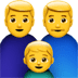 Family : Man, Man, Boy Emoji, Apple version of the Family : Man, Man, Boy Emoji