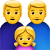 Family : Man, Man, Girl Emoji, Apple version of the Family : Man, Man, Girl Emoji