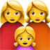 Family : Woman, Woman, Girl Emoji, Apple version of the Family : Woman, Woman, Girl Emoji