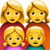 Family : Woman, Woman, Girl, Boy Emoji, Apple version of the Family : Woman, Woman, Girl, Boy Emoji
