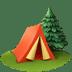 Camping emoji, travel emoji