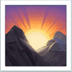 Sunrise Over Mountains emoji, Apple version of the Sunrise Over Mountains emoji,