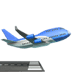 Airplane Departure emoji, Apple version of the Airplane Departure emoji