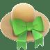 Hat emoji, Woman's Hat emoji, Apple version of the Hat emoji