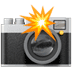 Camera emoji, Camera With Flash emoji, Apple version of the Camera With Flash emoji