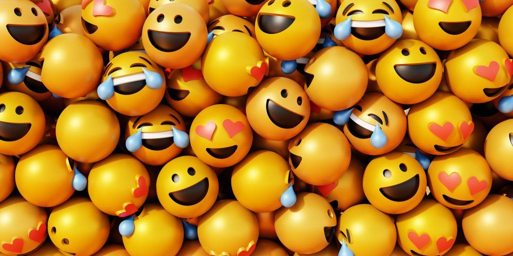 Emojis, group of emojis, jumbled emojis