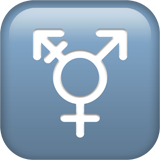 Transgender symbol, Transgender emoji, Apple version of the Transgender emoji, Rainbow Flag emoji